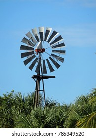 SANIBEL, FLORIDA - DECEMBER 05: Windmill at Bailey Homestead Preserve Sanibel Captiva Conservation Center Florida 2016