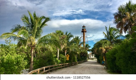 Sanibel Island, Florida, USA - July 26, 2016: View of the old Sanibel Island Lighthouse