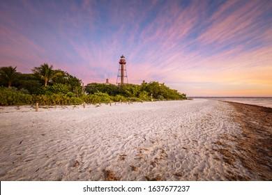 Sanibel Lighthouse - Point Ybel Light. Sanibel, Florida, USA.