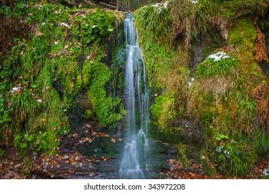 The Sankenbach waterfall in Baiersbronn, Black Forest, Baden-Wurttemberg, Germany, Europe