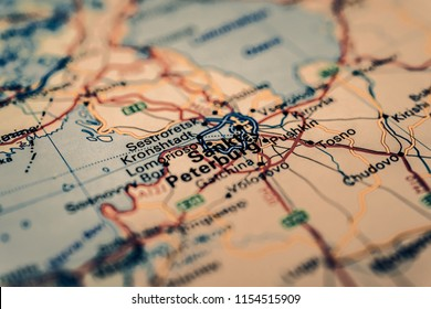 Sankt Peterburg Russia map