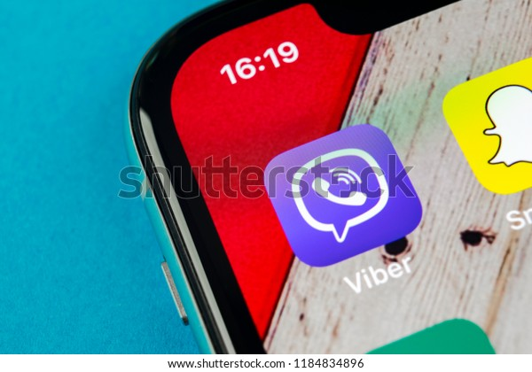 Sanktpetersburg Russia September 19 2018 Viber Stock Photo