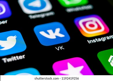 Social Network Icons Vk Images, Stock Photos & Vectors
