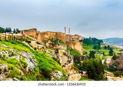 Sanliurfa Castle view in Sanliurfa City of Turkey