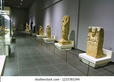 SANLIURFA MUSEUM, SANLIURFA, TURKEY - 20 October 2018. A general view from the archaeological museum. All findings are displayed in a chronological order.