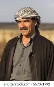 SANLIURFA, TURKEY - OCTOBER 27, 2014: Kurdish man in Sanliurfa, Turkey.
