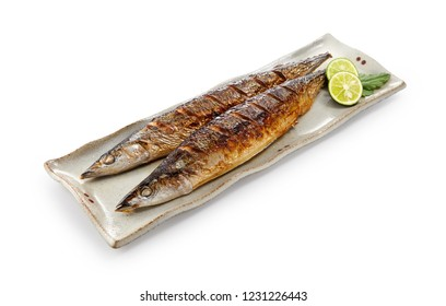 Sanma (grilled Pacific saury wih solted)