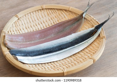 "Sanma or Mackerel Pike is considered an autumn  delicacy in Japan. It literary means ""autumn sword fish"" in reference to sanma season and its body shape resembling a sword."