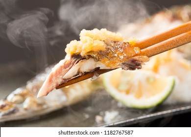 Sanma Shioyaki (Salt-Grilled Pacific Saury)is one of the most well-known seasonal fish representing autumn in Japanese cuisine.