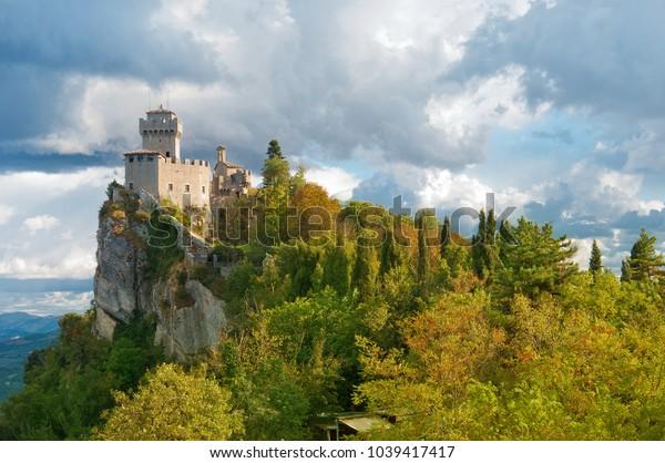 San-Marino Castle Rock Landscape