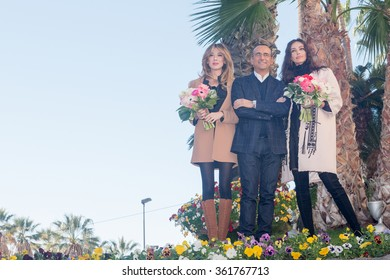 Sanremo, italy 12 January 2016: Sanremo 2016: Gabriel Garko co-host along with Conti in Virginia Raffaele and Madalina Ghenea
