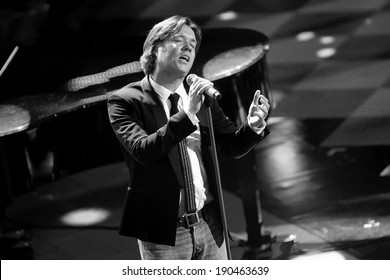 SANREMO, ITALY - FEBRUARY 19: Rufus Wainwright attends opening night of the 64th Festival of Sanremo at Teatro Ariston on February 19, 2014 in Sanremo, Italy.
