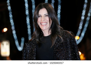 SANREMO, ITALY, February 4, 2019: Singer Paola Turci attends the opening red carpet during the 69th Italian Song Festival at Ariston theatre in Sanremo, Italy.
