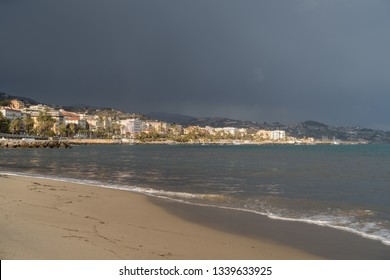 Sanremo from the sea, Italy