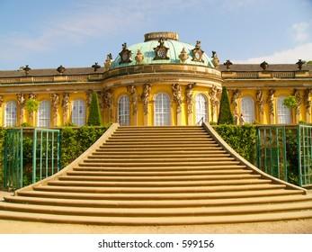 Sans Souci palace in Potsdam, Berlin, Germany, Europe.