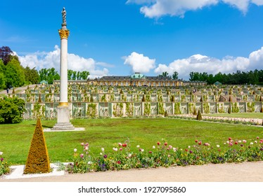 Sanssouci palace and park in spring, Potsdam, Germany