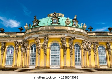 Sanssouci Palace, the summer palace of Frederick the Great, King of Prussia, in Potsdam near Berlin, Germany