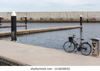 SANT ADRIA DE BESOS,SPAIN-MARCH 1,2014: Port forum view, town of Sant Adria close to Barcelona park Forum area.