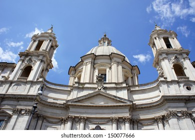 Sant' Agnese in Agone Church on Piazza Navona, Rome, Italy