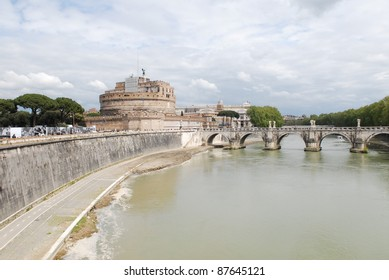 Sant' Angelo Castel  at summer in Rome, Italy