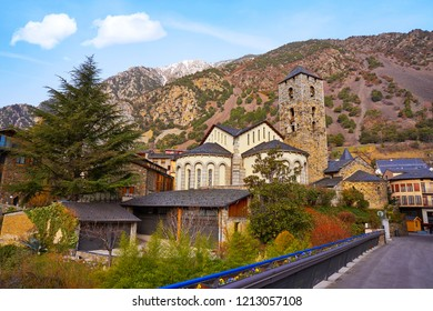 Sant Esteve church in Andorra la Vella at Pyrenees