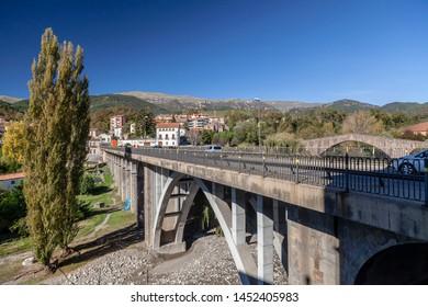Sant Joan de les Abadesses, Catalonia, Spain. Modern bridge.