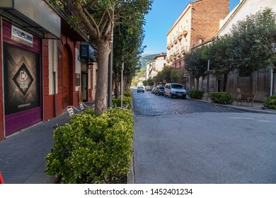 SANT JOAN DE LES ABADESSES,SPAIN- OCTOBER 25,2018: Street village.