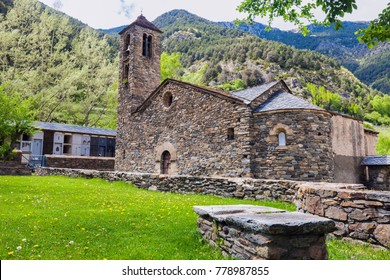 Sant Marti de la Cortinada Church in La Cortinada. La Cortinada, Andorra.