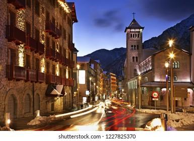 Sant Pere Martir church in Andorra la Vella. Andorra