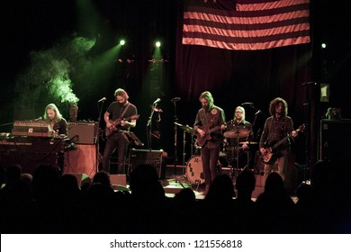 SANTA ANA, CA - DEC 02:  The Chris Robinson Brotherhood perform at The Observatory on December 02, 2012 in Santa Ana, California.