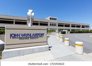 Santa Ana, California – April 13, 2019: Santa Ana John Wayne airport (SNA) in California.