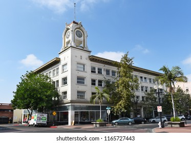 SANTA ANA, CALIFORNIA - AUGUST 27, 2018: W. H. Spurgeon Building. William Henry Spurgeon is credited with founding the city of Santa Ana, California.