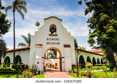 Santa Ana, California / USA - July 10, 2012: The Bowers Museum is an art museum in Orange County CA known for collection ranging from pre-Columbian Mesoamerica to California plein-air painting.