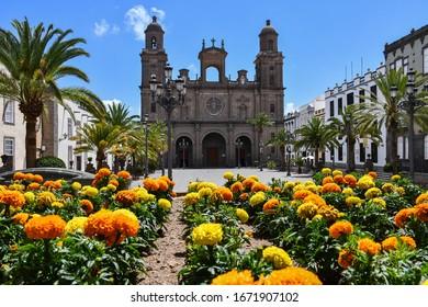 Santa Ana Cathedral in Las Palmas de Gran Canaria,, Canary Island, June 2019