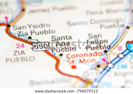 Pueblo New Mexico Map.Santa Ana Pueblo New Mexico Usa Stock Photo Edit Now 796079512