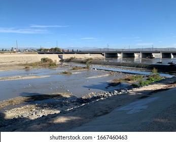 Santa Ana River Riverbed Anaheim California