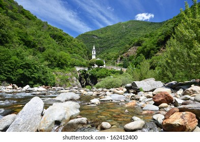 Santa Anna near Cannobio, at Lago Maggiore, Piemont, Italy