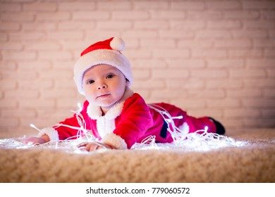 Santa baby and ligths