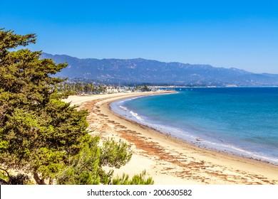 Santa Barbara Beach view,  California