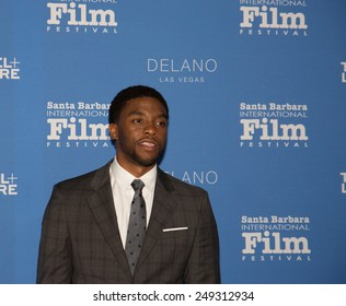 SANTA BARBARA, CA - February 01, 2015: Actor Chadwick Boseman attends the 30th Santa Barbara International Film Festival to receive the Virtuosos Award #SBIFF