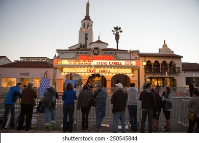 SANTA BARBARA, CA - February 06, 2015: Early arrivals await the presentation of the Outstanding Performer of the Year Award to Steve Carell at the 30th Santa Barbara International Film Festival #SBIFF