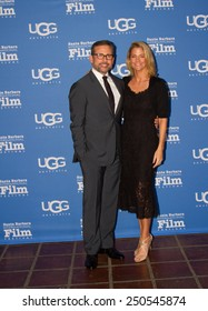 SANTA BARBARA, CA - February 06, 2015: Actor Steve Carell attends the 30th Santa Barbara International Film Festival with wife Nancy to receive the Outstanding Performer of the Year Award #SBIFF