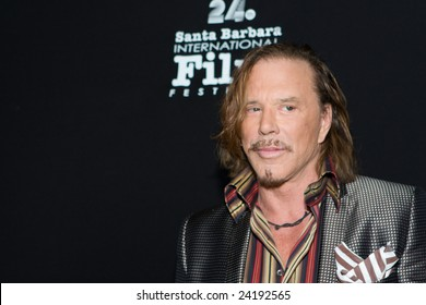 "Santa Barbara, CA Jan. 31 - Oscar nominee Mickey Rourke (Randy Robinson in ""The Wrestler"") receives the American Riviera Award at the 24th Santa Barbara International Film Festival Jan. 31, 2009"