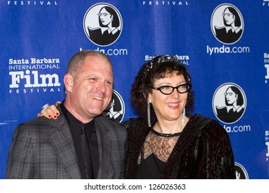 SANTA BARBARA, CA - JANUARY 25: Lynda.com founders Lynda Weinman and Bruce Heiman at the 28th Santa Barbara International Film Festival in Santa Barbara, CA on January 25, 2013.