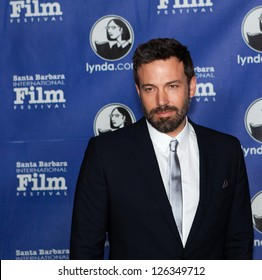 SANTA BARBARA, CA - JANUARY 25: Modern Master honoree Ben Affleck on the Red Carpet, at the 28th Santa Barbara International Film Festival in Santa Barbara, CA on January 25, 2013.