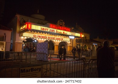 SANTA BARBARA, CA - JANUARY 27, 2015: Santa Barbara's Arlington Theater prepares for opening night of the 30th Santa Barbara International Film Festival.#SBIFF