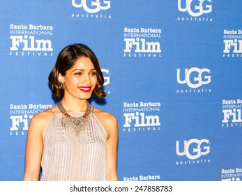 SANTA BARBARA, CA - JANUARY 27, 2015: Actress Freida Pinto (Elaheh) of Desert Dancer attends its US Premiere on the Red Carpet at the 30th Santa Barbara International Film Festival.