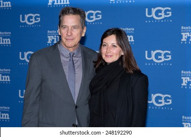 SANTA BARBARA, CA -JANUARY 28, 2015: Moderator Tim Matheson and Elizabeth Marighetto attend the Attenborough Award honoring the Cousteaus at the 30th Santa Barbara International Film Festival #SBIFF