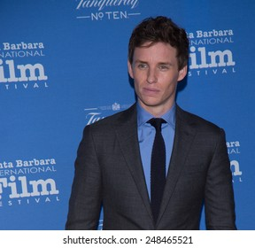 SANTA BARBARA, CA - JANUARY 29, 2015: Actor Eddie Redmayne (The Theory of Everything) attends the 30th Santa Barbara International Film Festival to receive the Cinema Vanguard Award #SBIFF