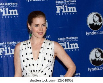 SANTA BARBARA, CA - JANUARY 31: Actress Amy Adams on the Red Carpet before the Cinema Vanguard Award at the 28th Santa Barbara International Film Festival in Santa Barbara CA on January 31, 2013.